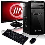 Komplett PC-Paket Ryzen 5 3400G 4X 4.2 GHz Turbo, 16 GB DDR4, 240 GB SSD + 2000 GB, Vega 11 Grafik, MSI A320, Windows 10 Pro 64bit + 22 Zoll TFT + Tastatur Set + W-LAN Bundle