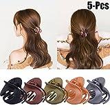 Klaue Clips, Fascigirl 5 STÜCKE Haarspangen Haargreifer Vintage Einfache Unregelmäßige Rutschfeste Haarnadel Haar Zubehör Für Frauen (mehrere farbe)