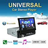 Ezonetronics 7 Zoll Autoradio Flip 1DIN Auto Stereo Play Telefon Musik über USB AM / FM Radio Bluetooth MP3 MP4 Player mit USB / SD 0013