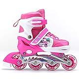 Chigant Kinder Inliner Kinder, ABEC 7 Kugellager verstellbar Inline Skates Inlineskates für Mädchen und Jungen