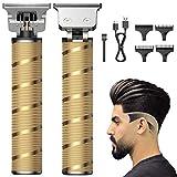 Easy Trim Rasierer, BOIROS Haarschneider Herren Elektrisch Haarschneidemaschine Rasierer Pro T Blade Outliner Trimmer mit T-Klinge Wasserdichter und USB Wiederaufladbarer Für Männer