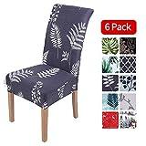 Homaxy Universal Stretch Stuhlhussen 2er 4er 6er Set Stuhlbezug für Stuhl Esszimmer (6er Set, Style 9)