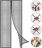 Magnet Fliegengitter Tür Insektenschutz, Der Magnetvorhang Ist Ideal Für Die Balkontür, Kellertür Und Terrassentür, Wohnzimmer Schiebetür Terrassentür