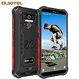 OUKITEL WP5 Pro (2020) Outdoor Smartphone Ohne Vertrag, 4G Dual SIM IP68 Outdoor Handy,8000mAh Akku 4GB 64GB,Android 10 Global Version 5,5 Zoll Triple Kamera Face/Fingerprint ID (Schwarz)