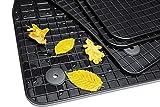 teileplus24 GM-103 Gummimatten Original Qualität Gummi Fußmatten 4-teilig, Farbe:schwarz