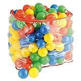 Bieco Bälle für Bällebad   250 Stück, Größe ca. 6 cm   Bunte Bälle   Kinder Bällebad Bälle   Plastic Balls   Geeignetes Bällebad für Babys, Bällebad Kinder oder als Bällebad für Hunde