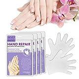 Hand Mask Feuchtigkeitsspendende Handschuhe für die Handpflege Pflegende Regenerierende Peeling-Maske für Trockenes Altern und Rissige Hände (4 Paar)