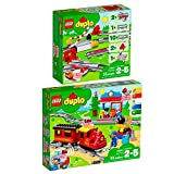 Lego Duplo 2er Set 10882 10874 Eisenbahn Schienen + Dampfeisenbahn