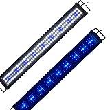 Aquarien Eco Aquarium Beleuchtung Fisch Tank Aufsetzleuchte Blau Weiß LED Lampe Leuchte 90-115cm 33W