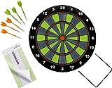 HABA 304425 - Terra Kids Softdart, Dartspiel für Kinder ab 6 Jahren, mit Dartscheiben-Ø 41,3 cm, Block und 6 Pfeilen mit Sicherheits-Kunststoffspitze je 13,5 cm lang, in- und outdoor