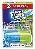 WC FRISCH Duo-Duftspüler Bergfrisch, WC-Reiniger und WC-Duftstein, Nachfüllpack (1 x 2 Stück)
