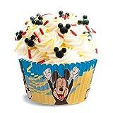 dekora Disney Mickey Mouse Muffins Backformen Set-50 Stück, Papier, Rot, 5 x 5 x 3 cm