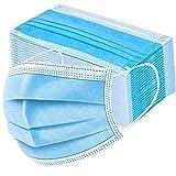 50x Einweg-Masken 3-lagig Staubschutz Gesichtsschutzmaske Mundschutz Maske Mund Nase Abdeckung Behelfs Maske Ohrschlaufen