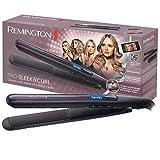 Remington Haarglätter Pro Sleek & Curl S6505, abgerundetes Design zum Glätten und Stylen von Locken, schwarz