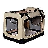 dibea Hundetransportbox Hundetasche Hundebox Faltbare Kleintiertasche Größe L Farbe Beige
