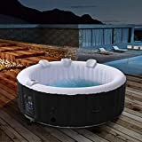 Arebos aufblasbarer Whirlpool In-Outdoor NEU - 6 Personen - Rund – 1000 Liter - Spa Pool - Massage, Heizung, Wellness