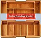 Utopia Kitchen [6-8 Fächer Besteckkasten Bambus - Erweiterbares Besteckfach - Schubladeneinsatz für Küchenschränke
