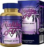 Malibu Fit Sunset Burn Fatburner für die Nacht, die Fatburner Diät Support Formel aus Malibu für bewusstes Abnehmen und ein schöneres Körpergefühl, 90 Kapseln