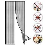Coedou Magnet Fliegengitter Tür Insektenschutz 80x210cm, Der Magnetvorhang ist Ideal für die Balkontür, Kellertür und Terrassentür, Kinderleichte Klebemontage Ohne Bohren, Nicht Kürzbar