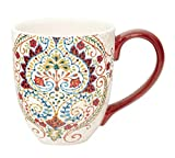 Jumbotasse Becher XXL folkloristische Deko 810 ml aus Keramik Trinkbecher Smoothie Becher Geschenk Büro Tasse für Kaffee Teetasse Cappuccino Kaffeebecher Jumbo-Tasse Riesentasse XXXL von DUO (Foxi)