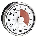 Kurzzeitwecker, mechanisch,Edelstahl, magnetisch,Ø 8x 3,2cm