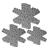JTDEAL [9 Stück] Pfannenschutz, PfannenschonerTopfschutz Pfannenstapelschutz aus Filz für Topf, Pfannen, 3 Größen