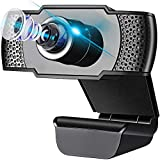 Replitel Webcam with Microphone, 1080P HD Streaming USB Computer Webcam for PC Video Conferencing/Calling/Gaming, Laptop/Desktop Mac, Skype/YouTube/Zoom/Facetime-Plug and Play (Type1)
