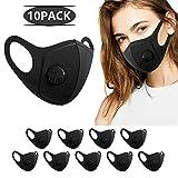 10 Stück Anti Staub Maske,Anti Haze Gesichtsmaske Schutzmaske Atemschutzmaske schwarz Wiederverwendbare und waschbare Maske zum Laufen, Radfahren, Skifahren, Outdoor-Aktivitäten (schwarz)