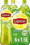 LIPTON ICE TEA Green Lime, Eistee mit Grüntee und Limetten Geschmack (6 x 1.5l)