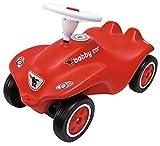 BIG-Bobby-Car New - Kinderfahrzeug für Jungen und Mädchen, klassisches Rutschfahrzeug belastbar bis 50 kg, für Kinder ab 1 Jahr, rot - Exlusive