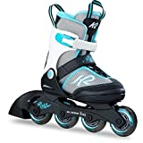 K2 Skates Mädchen Inline Skate Marlee — black - grey - light blue — L (EU: 35-40 / UK: 3-7 / US: 4-8) — 30B0202