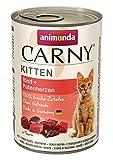 animonda Carny Kitten Katzenfutter, Nassfutter Katzen bis 1 Jahr, Rind + Putenherzen, 6 x 400 g
