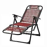 MSHK Garten Praktische Klappliege - Strand Relax-Liegestuhl, Sonnenliege Verstellbar Leicht - Belastbar Bis 500 Kg