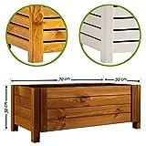 BooGardi Blumenkasten aus Holz • Rechteckig Braun 79x39x30cm • Pflanzkasten in 3 Farben und 2 Größen