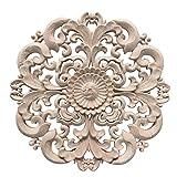 Yuena Care Möbel Schnitzerei Holz Verzierung Ornament für Schrank Tür Fenster Durchmesser 15 cm #2