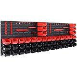 Deuba Wandregal mit Stapelboxen 90 tlg Box inkl. Werkzeughalter Erweiterbar Werkstattregal Lagerregal Steckregal