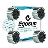 Eqosun®  Sonderedition 3M  praktischer Handtuchhalter in Chromoptik mit Original 3M Klebefläche (extra starker Halt) für kleine Handtücher, Spültücher im 4er Pack