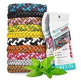 Vivibel Mückenschutz Armband, 12 Stück Mosquito Repellent Bracelet Wristband Mückenarmband, natürlichen Anti Moskito mücken Armband für Outdoor Indoor