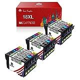 Toner Kingdom Ersatz kompatibler Tintenpatronen für Epson 18XL für Epson Expression Home XP-205 XP-212 XP-215 XP-225 XP-302 XP-305 XP-315 XP-325 XP-402 XP-405 XP-412 (15er Pack)