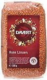 Davert Ganze Rote Linsen, 4er Pack (4 x 500 g) - Bio