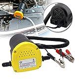 UISEBRT 12V 60W Ölabsaugpumpe Elektrisch - Absaugpumpe Heizölpumpe Dieselpumpe Ölpumpe 250L Motoröl Ölwechsel