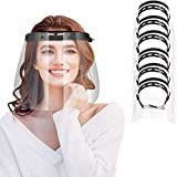 IYQOL® 6 Stücke Visier Gesichtsschutz, 6 x Halterungen mit je 1 Wechselfolien