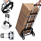 Aluminium-Treppensteiger Sackkarre Einkaufstrolley klappbar Tragkraft 100 kg Handkarre Schneller und leichter Transport (Typ2)