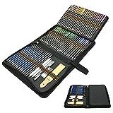 Tecpack 72 Stück Buntstifte Set, Professionelles Zeichnen Bleistifte Art Set für Farbmischung Malen und Skizzen, Ideales Set für Künstler, Erwachsene und Kinder