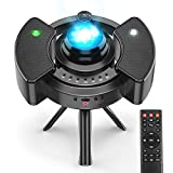 Sternenhimmel Projektor ohne Rauschen 2021 Neueste, Anti-Laser-Sicherungsring Nachtlicht mit Fernbedienung, 360°-Stativ, 43 Projektionsmodi Lampe Sternenhimmel, Bluetooth-Modus, Timing-Modus, Hiroumer