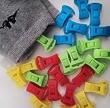 Alcrea Sockenklammern für Waschmaschine und Trockner. HAKEN zum Wäscheleine, und direkt in die Schubladen legen. Sockenclips nur aus Kunststoff. 4 Farben
