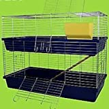 Heimtiercenter XXL 1,20 m doppel Hasenkäfig Meerschweinchenkäfig grün/grau / blau