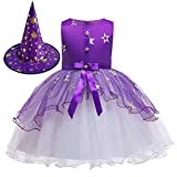 Fairy Baby Zauberin Halloween Kostüm Kleid für Mädchen Lila Ausgefallene Partyausstattung 3-12 Jahre alt Size 130(5-6 Jahre)