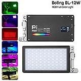 Boling BL-P1 12 W Pocket RGB LED-Videoleuchte 2500 K-8500 K vollfarbig, dimmbar, Vlogger-Licht, 9 gängige Szenario-Simulationen für Kamera Camcorder Vlogging Light Live Studio