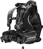 Cressi Patrol -Tarierjacket der EXTRAKLASSE- Professionnels Model mit Blase auf der Rückseite, Schwarz, XL